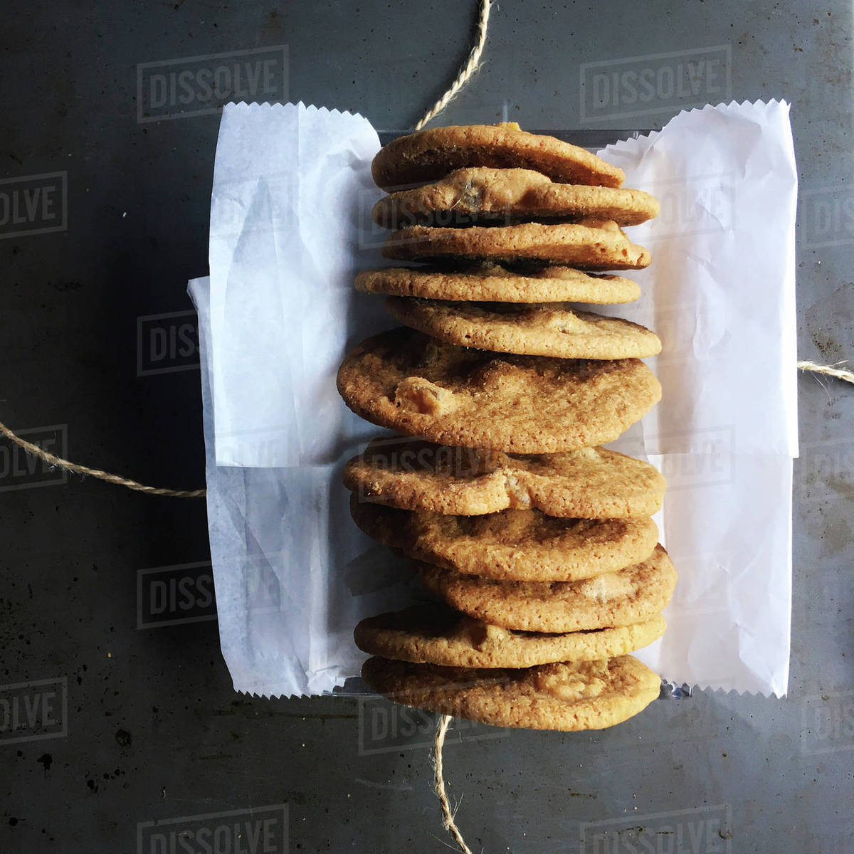 Overhead view of cookies on table Royalty-free stock photo