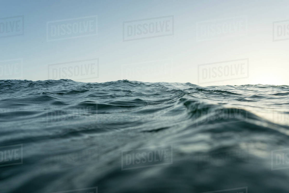 Surface level of sea against clear sky Royalty-free stock photo
