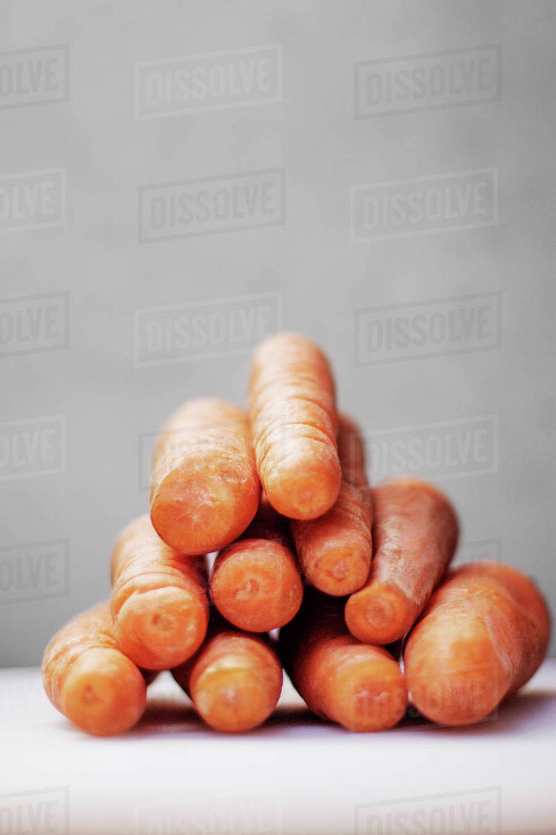 Stack of carrots on table Royalty-free stock photo