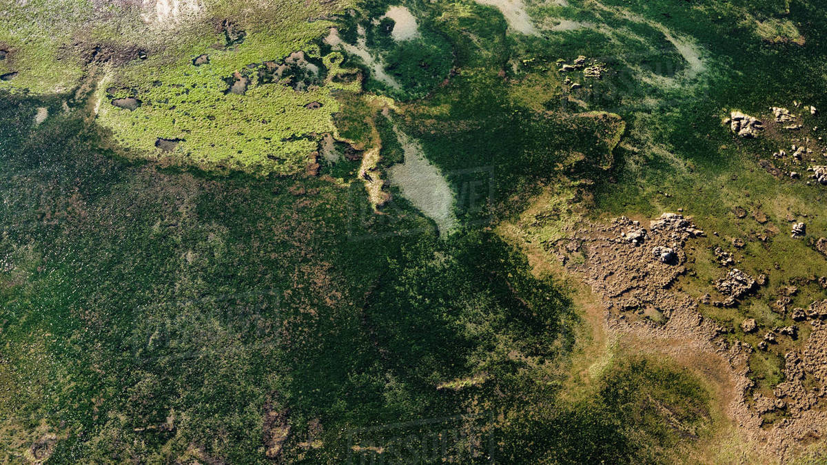 Aerial view of landscape Royalty-free stock photo