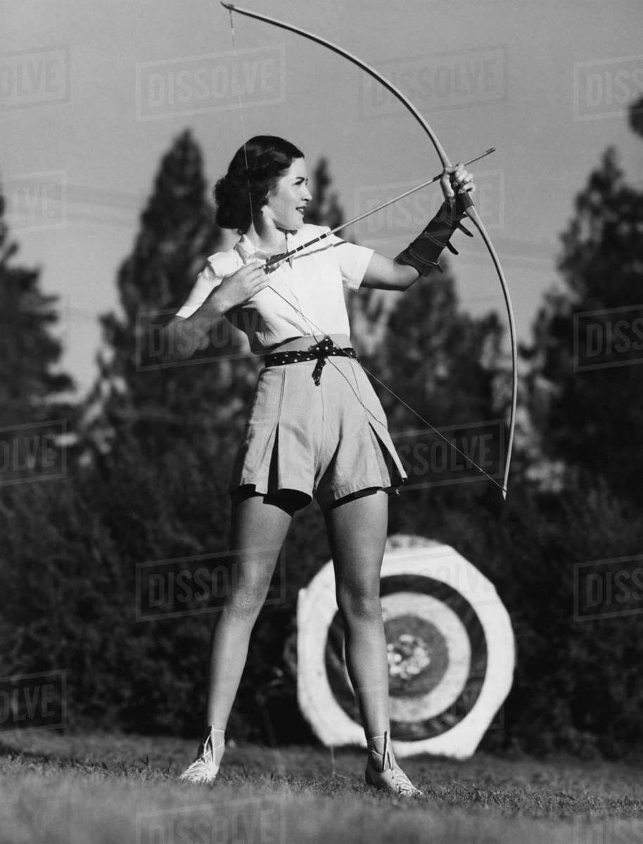 Female archer Royalty-free stock photo