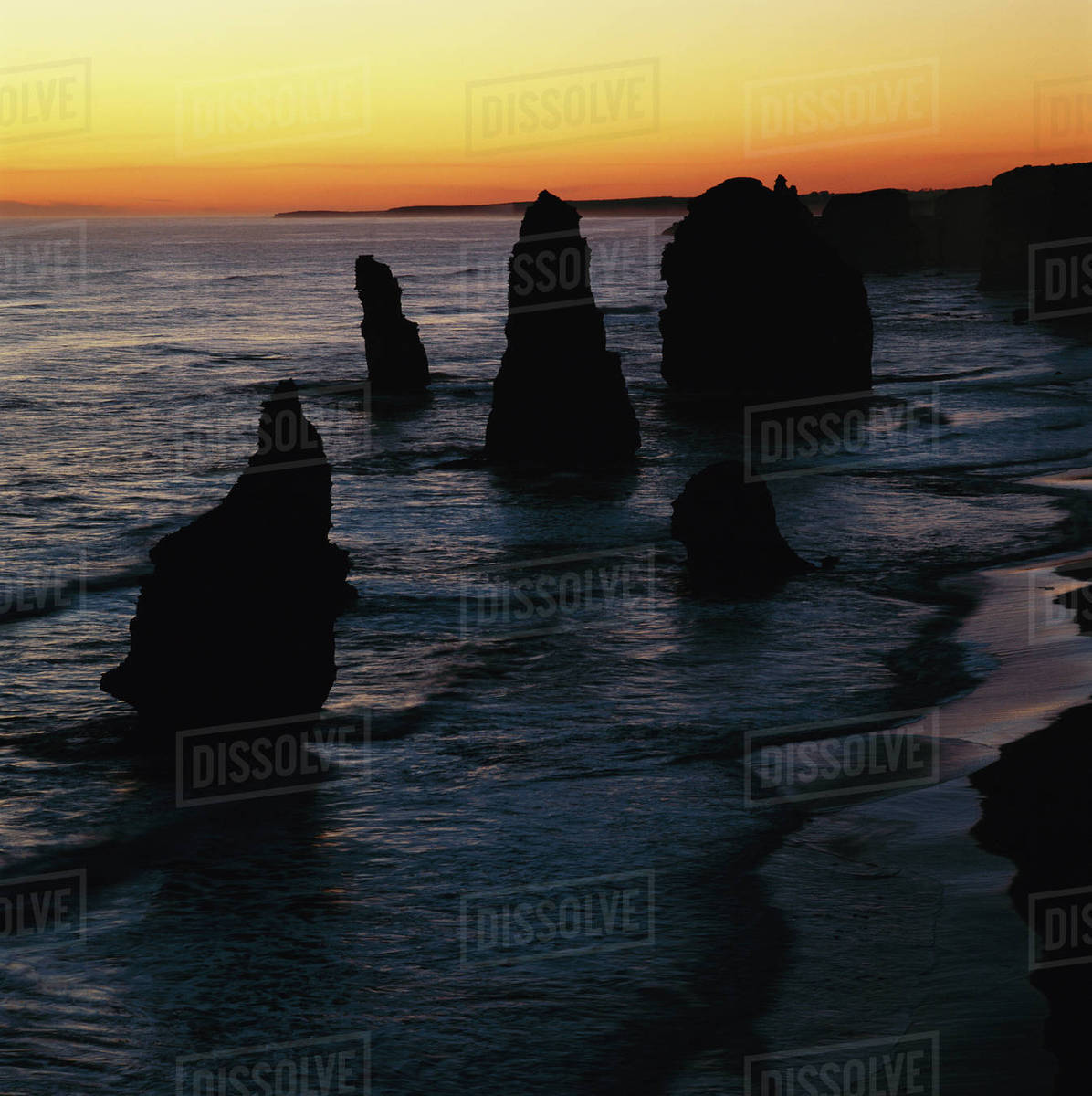 Southern Ocean, Port Campbell National Park, View of Twelve Apostles Royalty-free stock photo