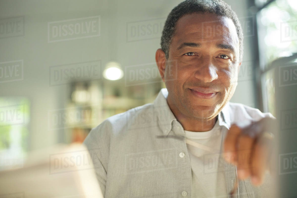 Close up portrait of smiling senior man Royalty-free stock photo