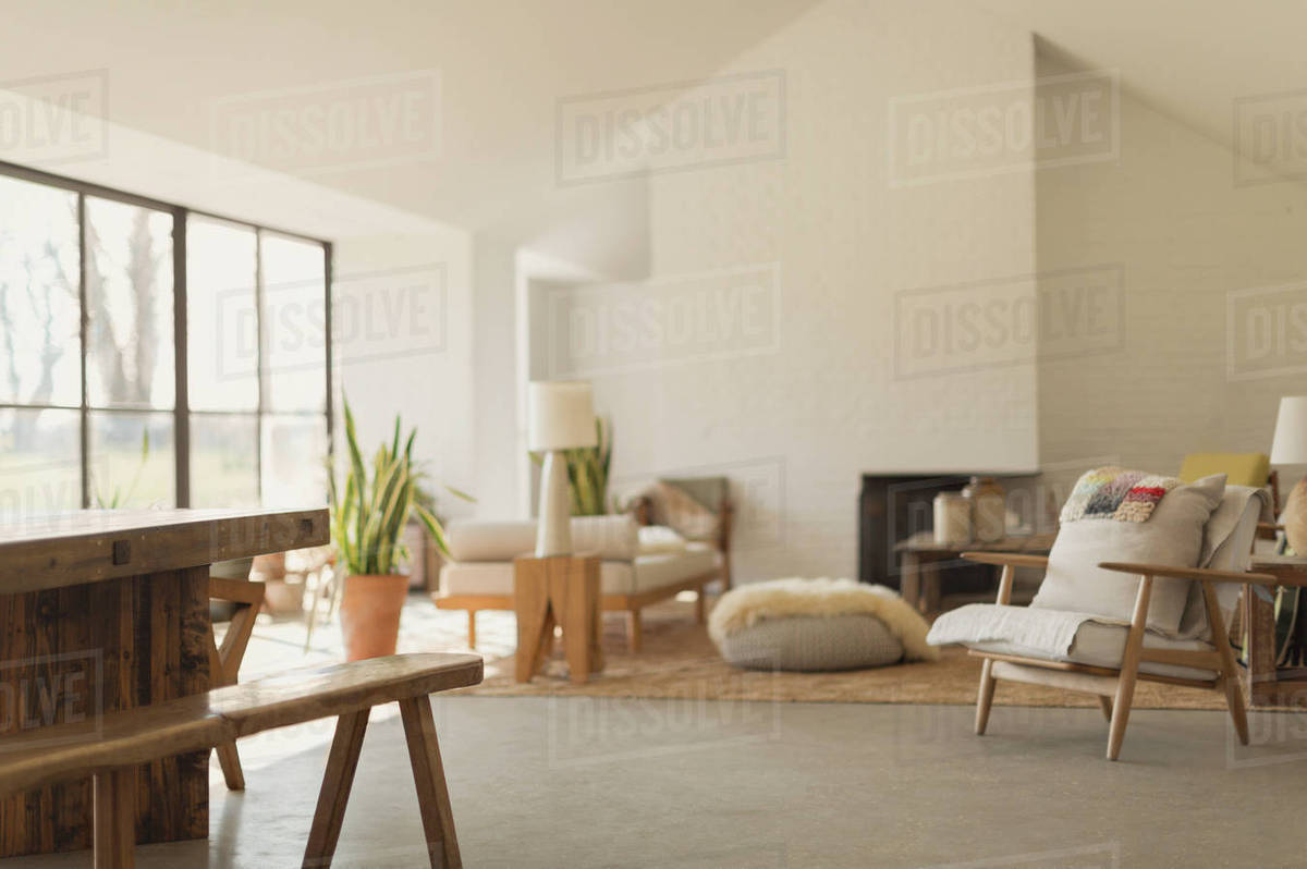 Home showcase living room Royalty-free stock photo